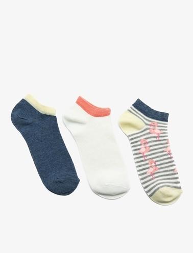 Koton 3'lü Kadin Çorap Mavi